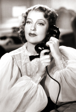 Jeanette MacDonald on the telephone
